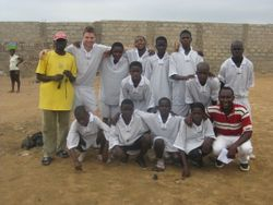 street academy plays a football match with CAS